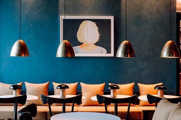 Salon de l'hôtel Amerikalinjen à Oslo ©Amerikalinjen