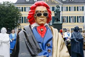Statue moderne représentant Beethoven sous les traits d'Elvis Presley ©Michael Sondermann/Bundesstadt Bonn