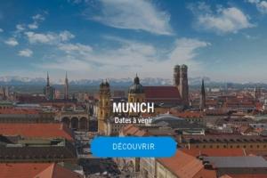 Panorama de la ville de Munich avec les Alpes en fond ©Thomas Klinger / Munchen Tourismus