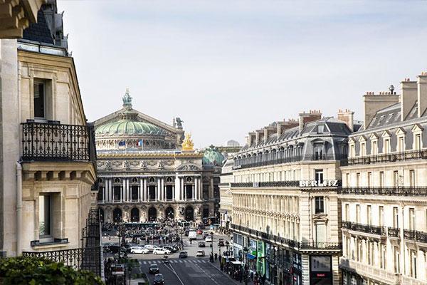 Vue sur l'Opéra Garnier de l'hôtel Edouard 7